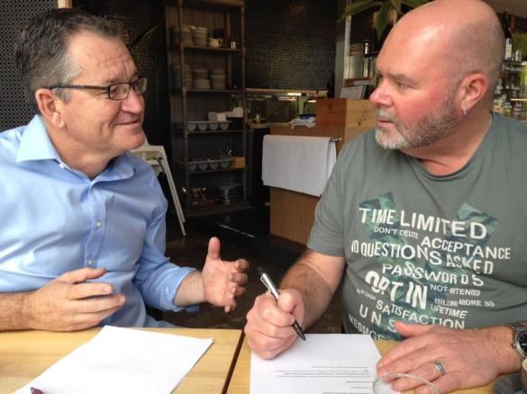 Coffee, writing and meeting date at Mojos Bunbury.