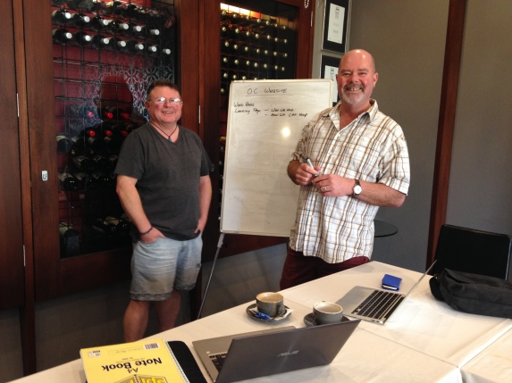 We held our 2017 strategy meeting in the Wine Room at Mojos.